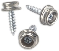 "1/2"" SELF DRILLING SCREW STUD BRASS NICKEL PLATED STUD WITH"